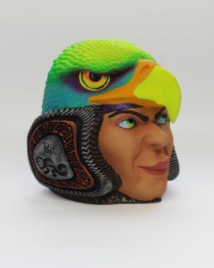 Réplica Carroza en Portalapiceros Cabeza de Águila Rostro de Hombre