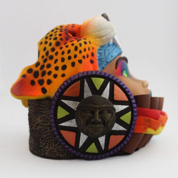 Réplica Carroza en Portalapiceros Cabeza de Leopardo Rostro de Mujer